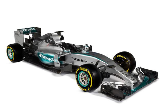 メルセデス AMG、王座防衛に向け2015年用F1マシン「W06 ハイブリッド」を発表!
