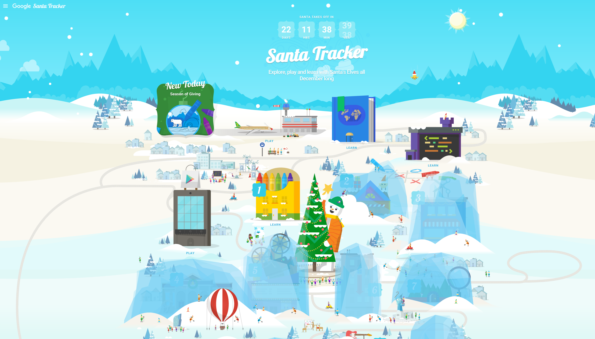 Santa's village comes to life as Google's holiday tracker goes online