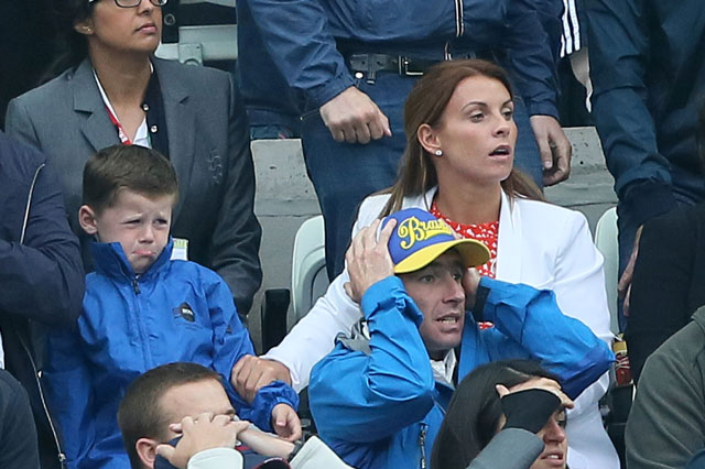 World Cup 2014: Kai Rooney has a cry as he watches dad Wayne lose to Uruguay