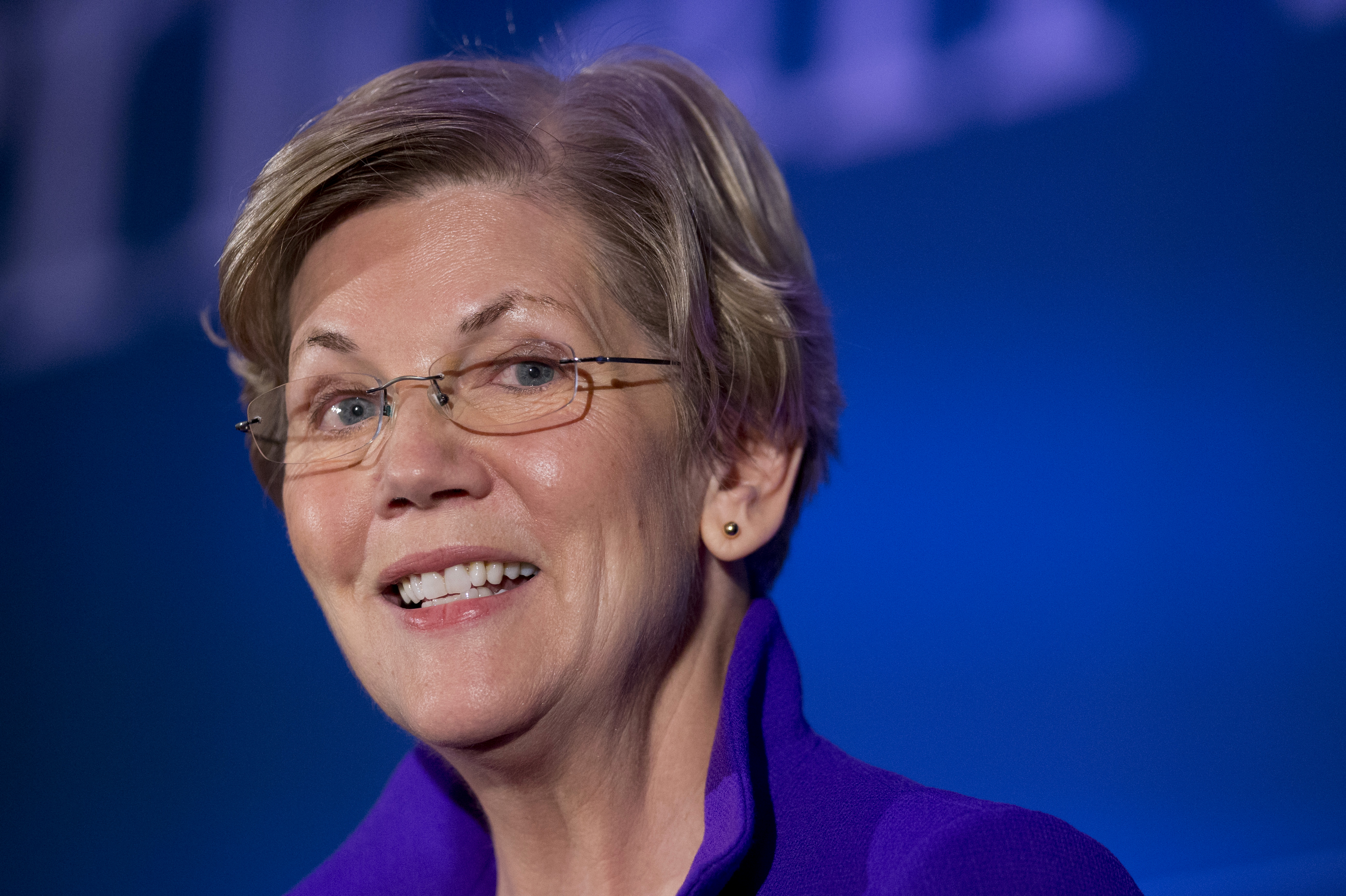 Sen. Elizabeth Warren, D-Mass. speaks to the Center for American Progress�s Second Annual Policy Conference in Washington, Wednesday, Nov. 19, 2014.  (AP Photo/Manuel Balce Ceneta)