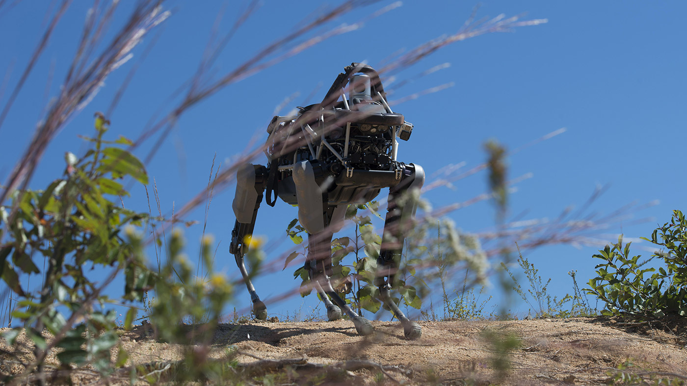 The Marines start training Google's 160-pound robo-dog Spot