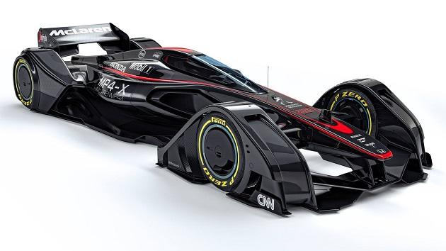 マクラーレン、F1の未来を示す革新的コンセプト「MP4-X」を発表(ビデオ付)