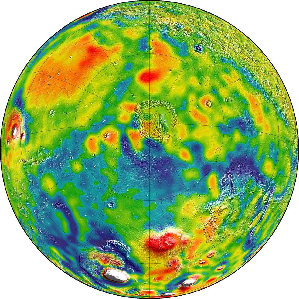 Mars 'X-ray' gravity maps reveal how its crust has changed