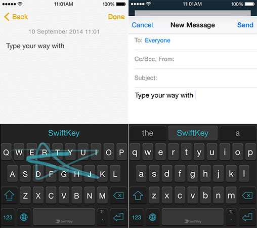 SwiftKey's iOS 8 keyboard will come with swipe gestures and cloud access