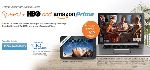 AT&T tempts cord-cutters with $40-a-month broadband with HBO and Amazon Prime
