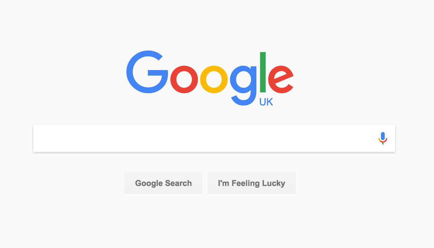 Google Home Page Material Design