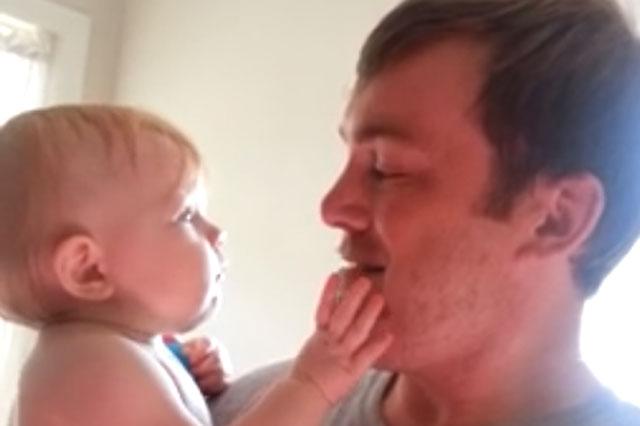 baby clean shaven dad