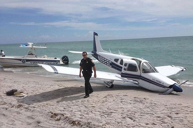 Dad killed, daughter injured after being hit by PLANE on Florida beach