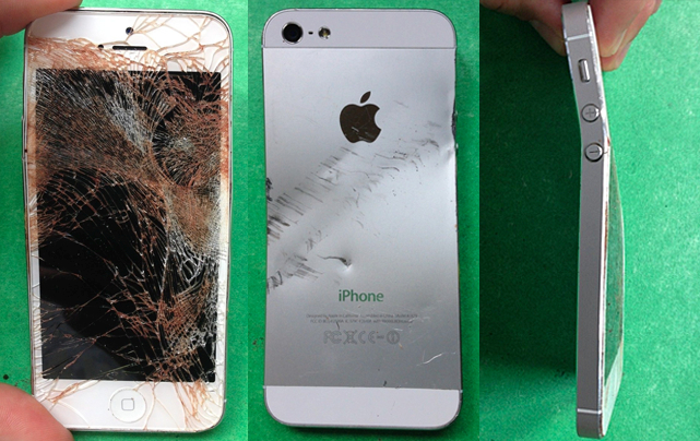 trashed iphone