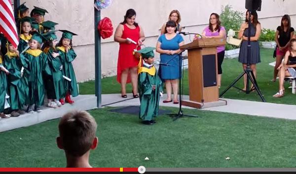 全米が爆笑!可愛すぎる幼稚園生の卒業スピーチが話題、将来の夢を宣言
