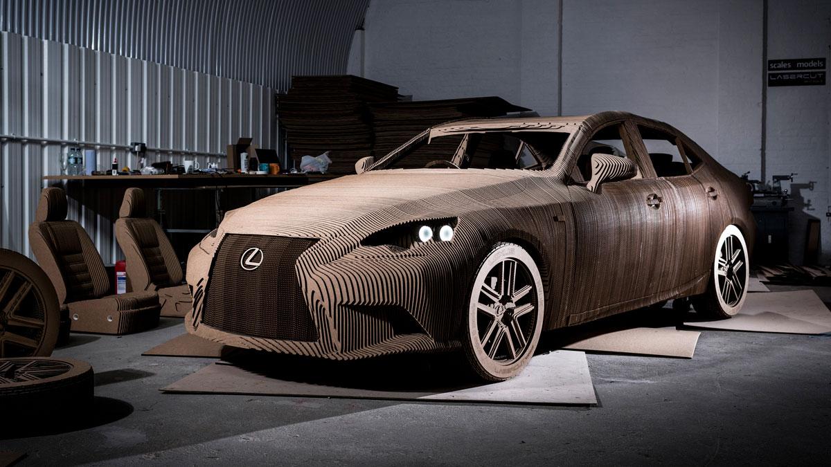 Lexus' cardboard Origami Car