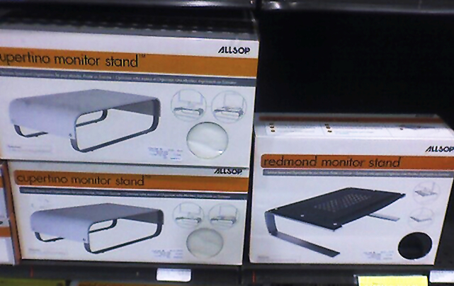 cupertino and redmond monitor stands