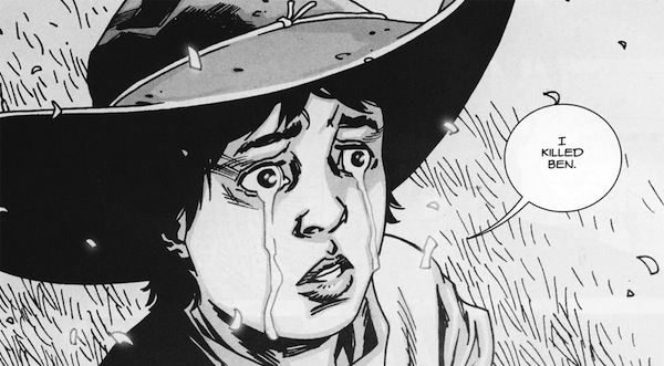 walking dead characters better in the comics, walking dead television comic comparison, carl grimes