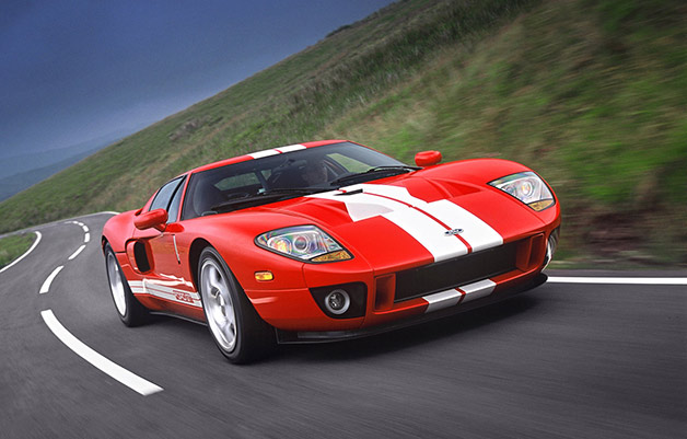 Ford GT supercar - red