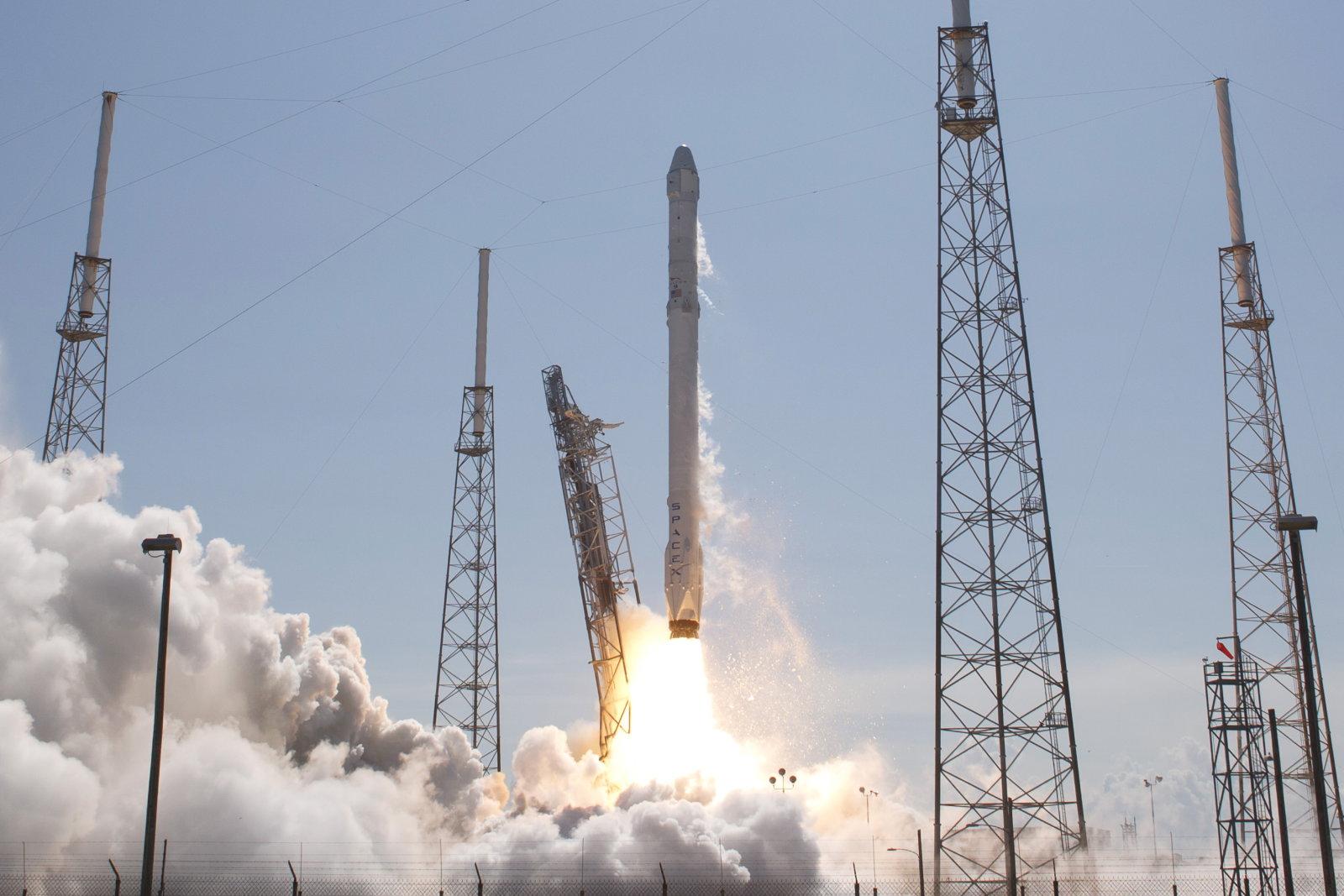 Bild eines Raketenstarts