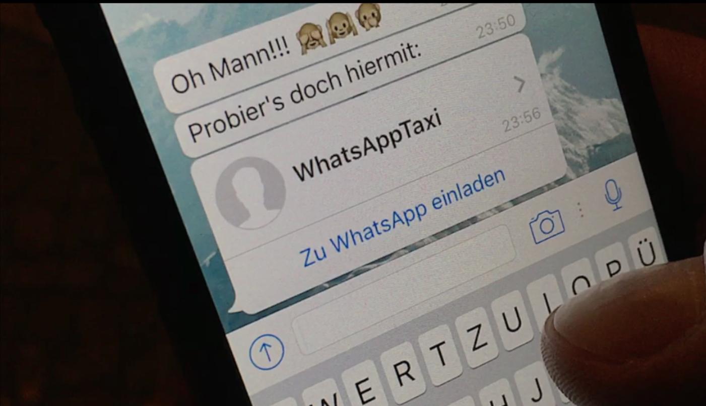 taxis lassen sich ab sofort auch mit whatsapp rufen - engadget, Einladung