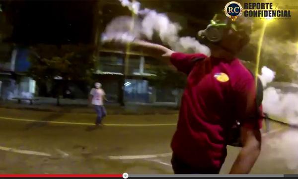 世界的にデマ拡散中 催涙ガス投げ返す香港デモ参加男性はおらず、実際はベネズエラ人