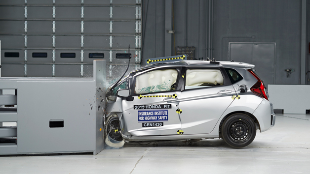 Honda Fit small front overlap crash test