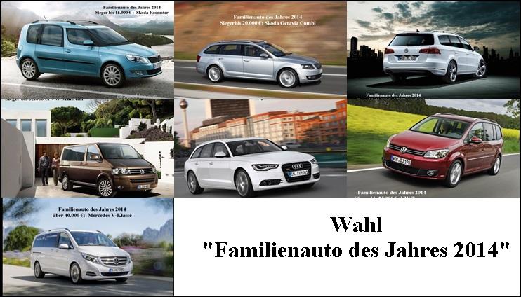 Bestes Familienauto, beste familienautos, VW Touran, Audi A6 Avant, V-Klasse, Eltern, Pampas Bomber, Kombi, VW Passat Variant, Bester Familienwagen, Familienautos des Jahres 2014, Familienauto des Jahres