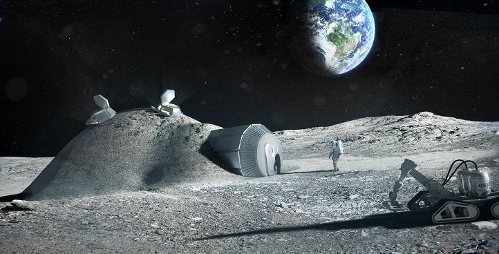 """ESA-Chef erklärt seine Vision für ein """"Dorf"""" aus Mondstaub"""