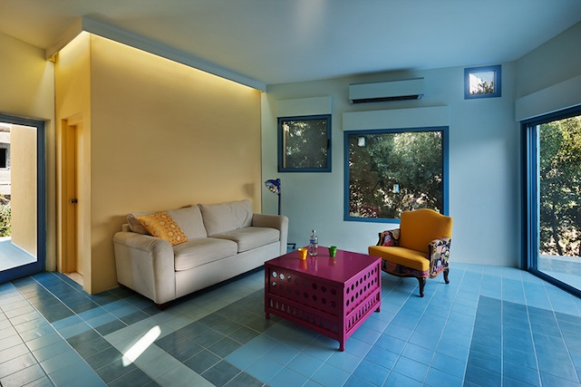 ductless heater in modern living room