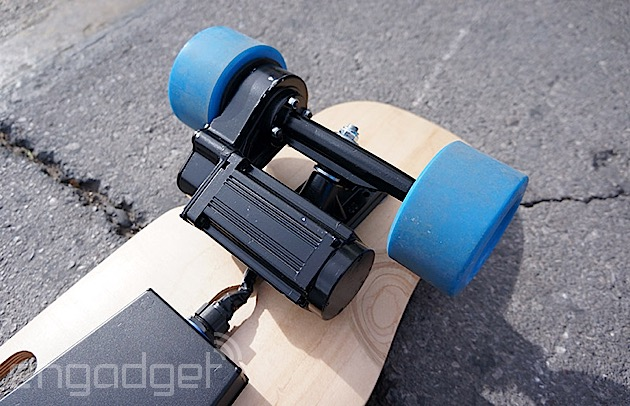 Roaming around CES with ZBoard's second-generation electric skateboard