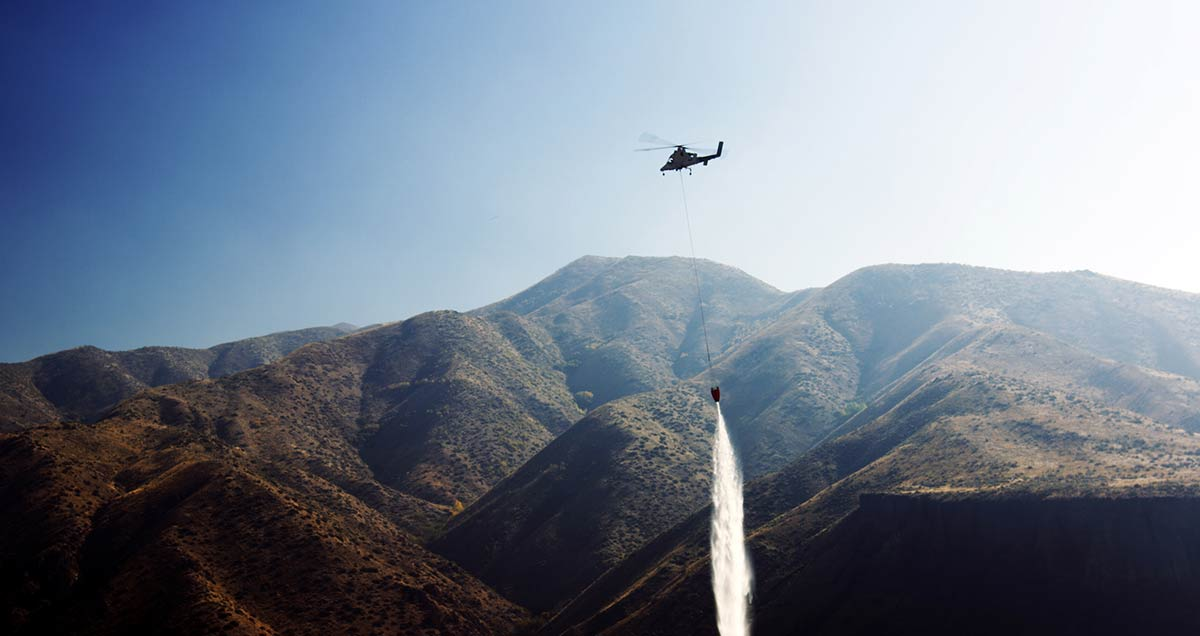 Authorities test autonomous helicopter's firefighting capabilities