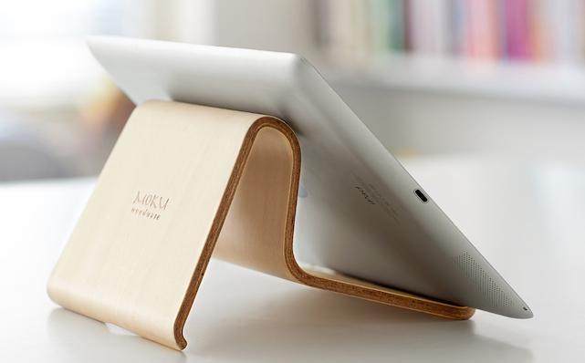 Moku Woodware Desktop Chair iPad Stand