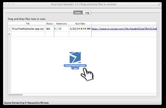 Image of the Total Virus Uploader program
