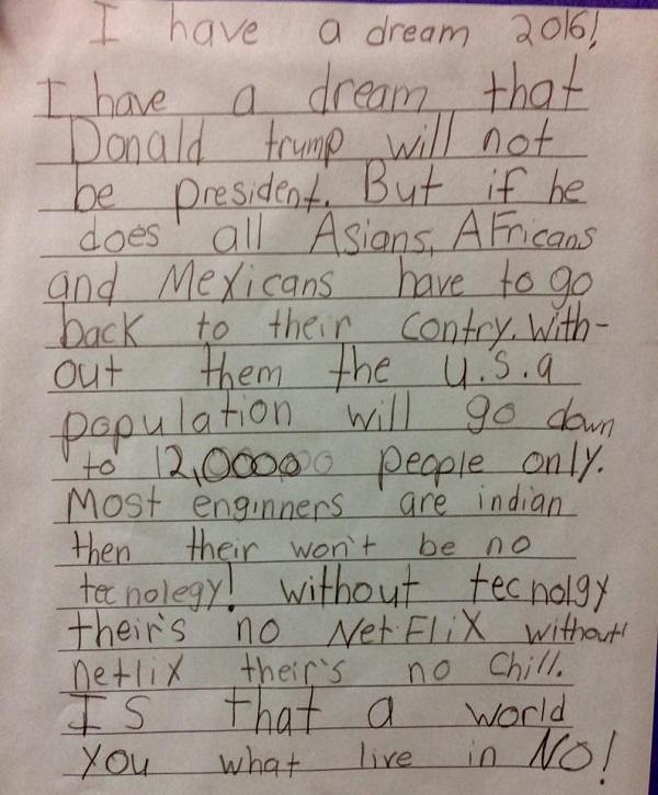 Ohio Third Grader Used 'Netflix And Chill' Logic To Shut Down Donald Trump