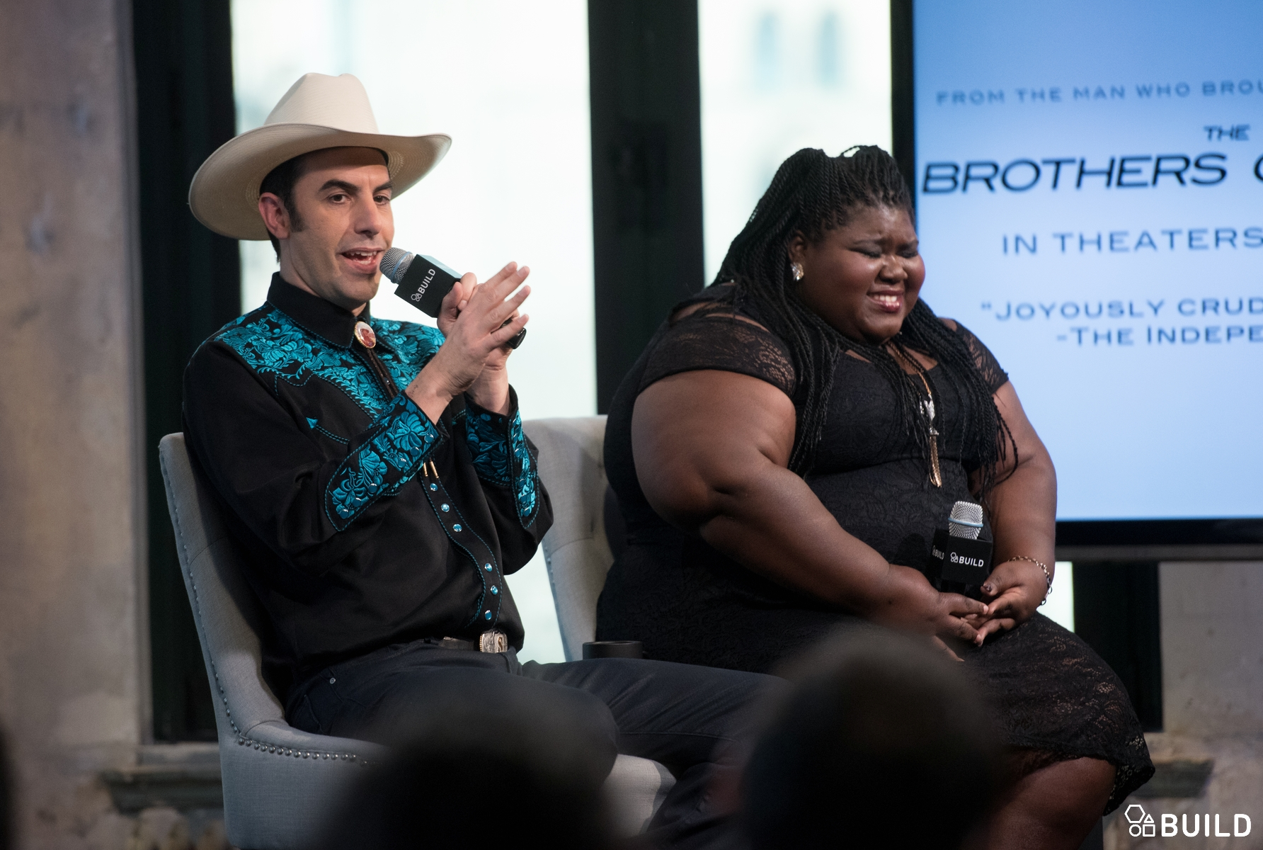 Sacha Baron Cohen and Gabourey Sidibe visits AOL Hq for Build on March 9, 2016 in New York. Photos by Noam Galai