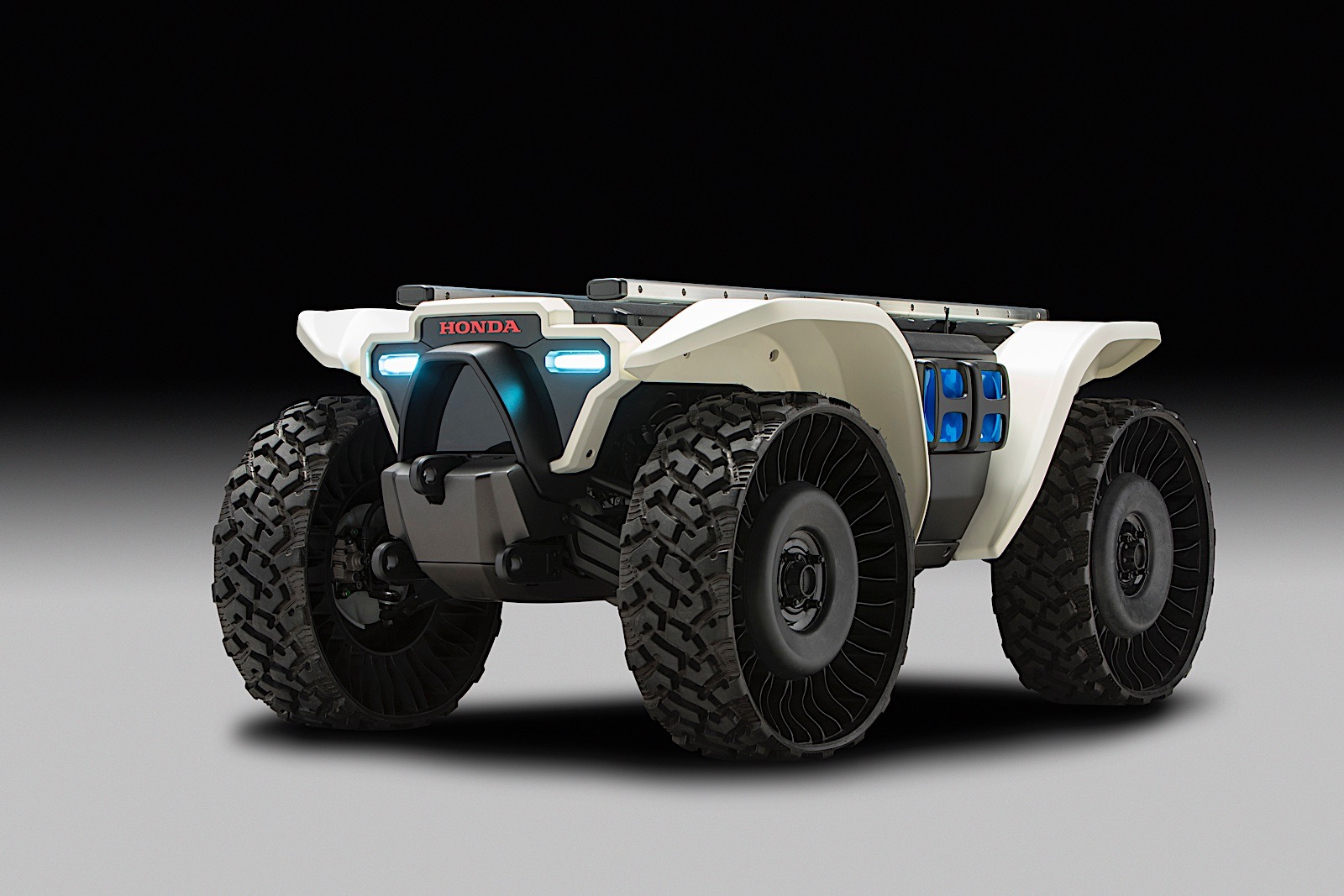 Honda's 3E-D18 is an autonomous off-road robotic device with AI designed to support people in a broad range of work activities.