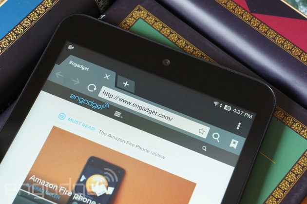 ASUS MeMO Pad 8 surfing the web