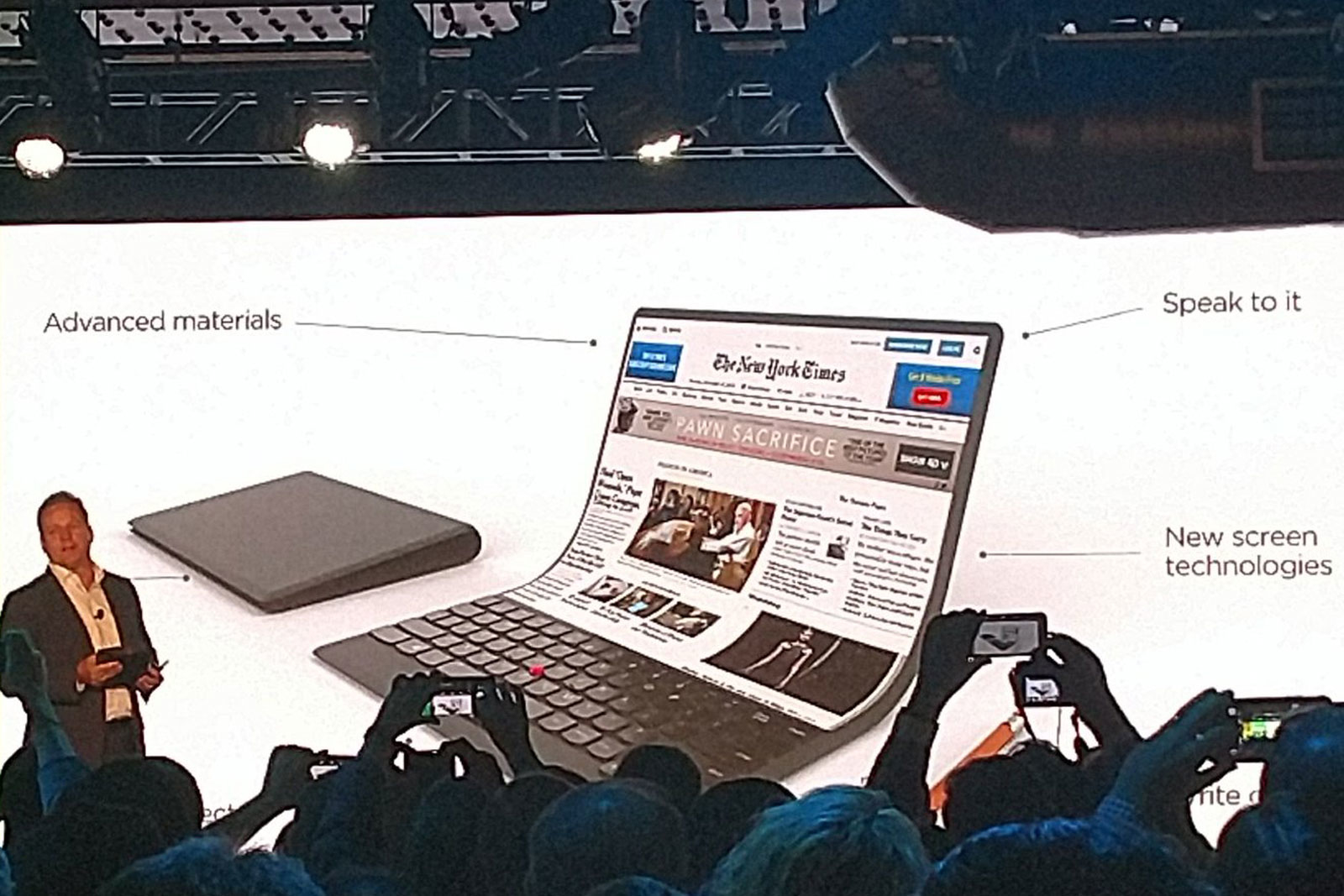 Lenovo portátil flexible