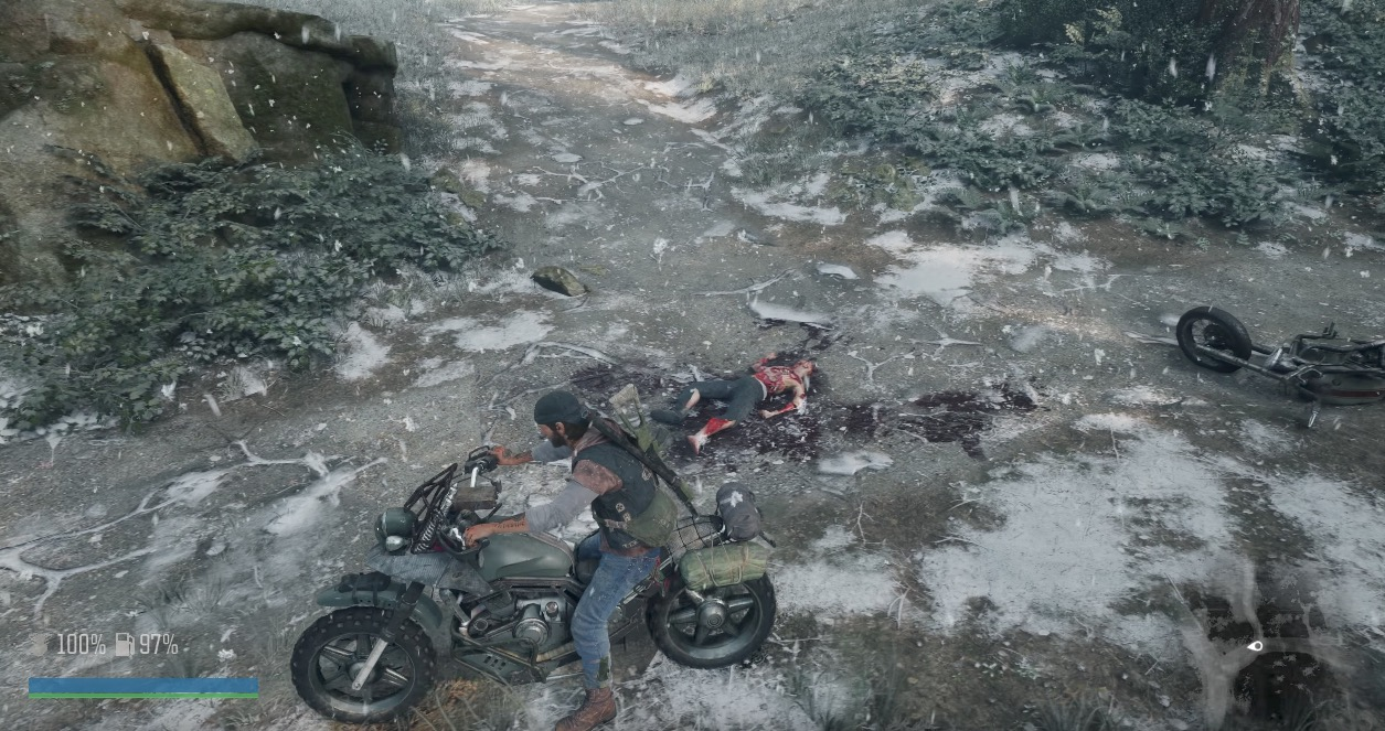 La nieve y el frío alteran a los freakers de Days Gone