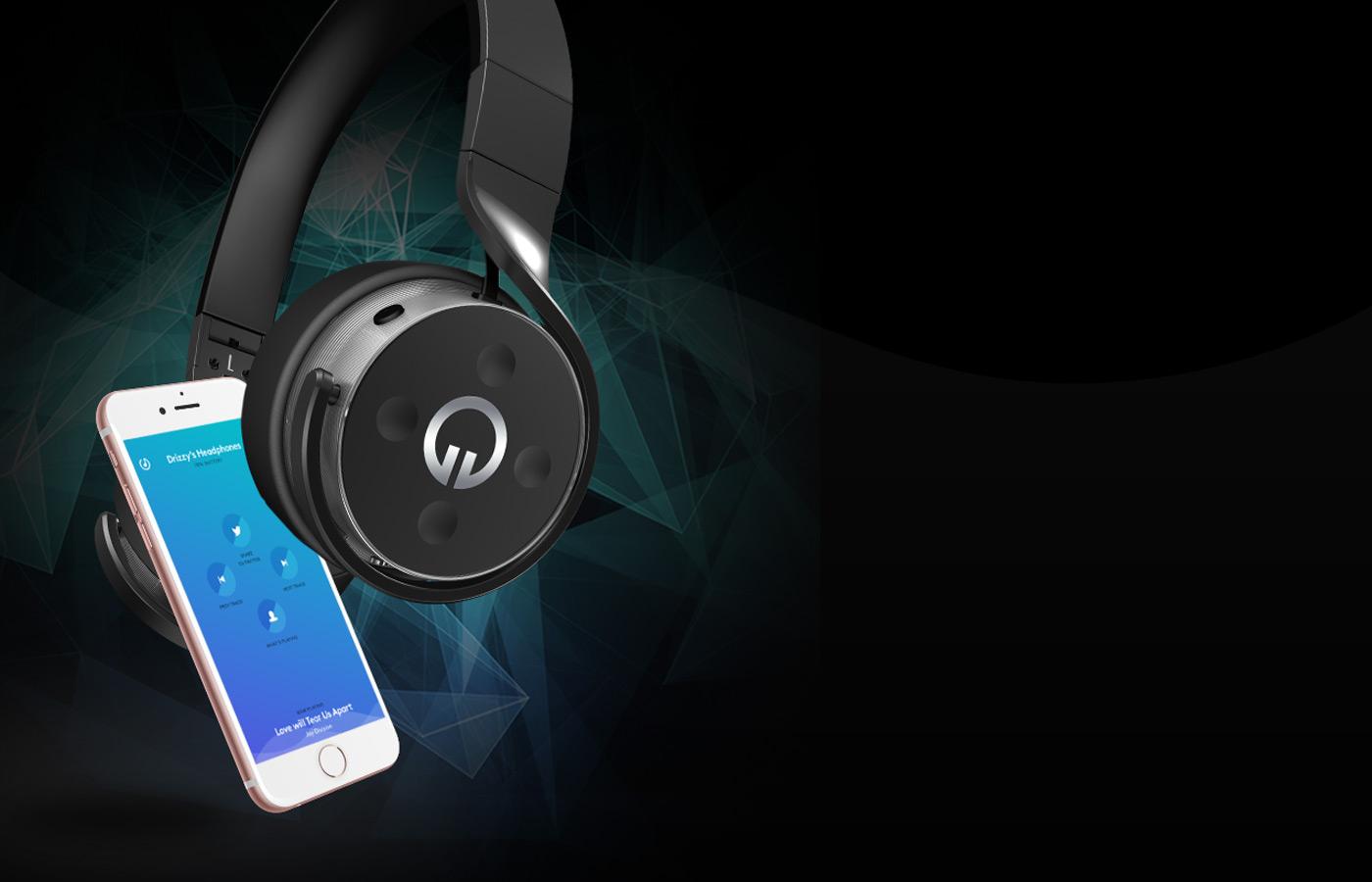 Muzik's smart headphones share your tunes on Twitter