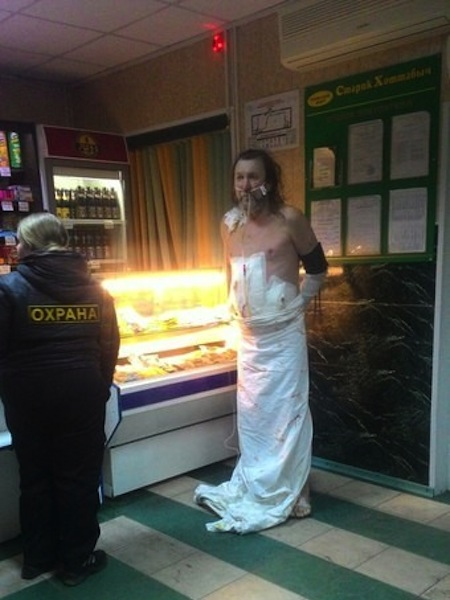 weird russia, strange russia, different in russia, russian man in dress