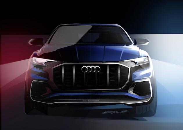 アウディ、間もなく発表する大型高級SUV「Q8」のデザイン画を公開