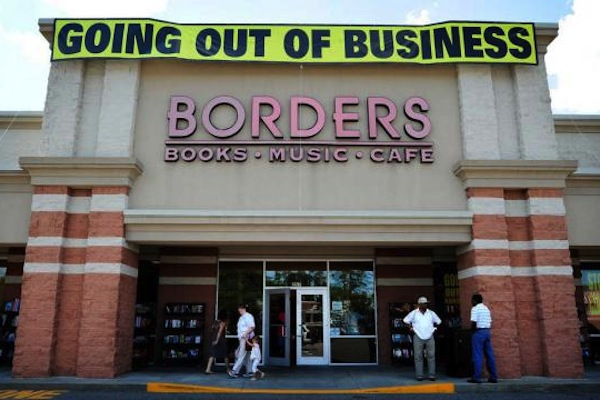 memorable businesses that went bust, famous failed businesses, borders