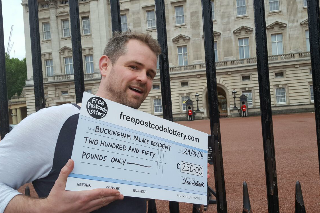 Free Postcode Lottery Winner - 250 British Pounds