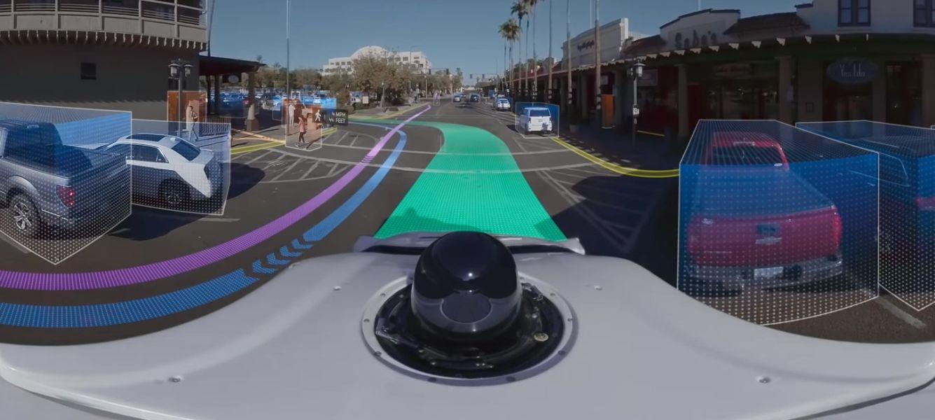 Waymo zeigt 360-Grad-Video von autonomen Autos