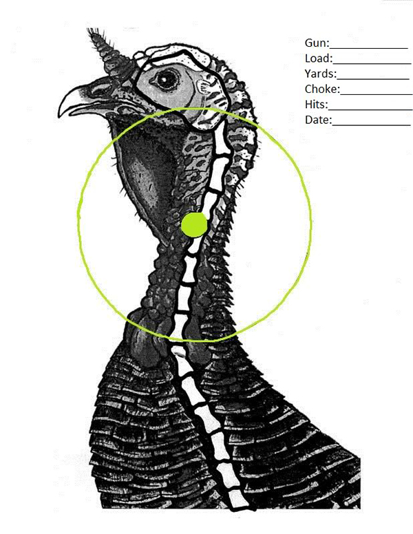 Geeky image with turkey target printable