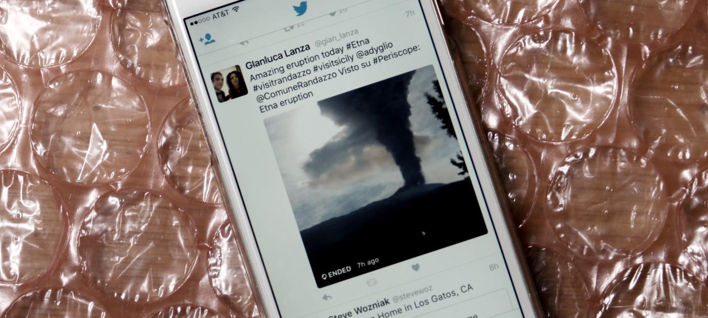 Los Periscope en directo se reproducirán en Twitter para iOS
