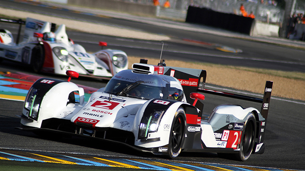 Audi r18 etron quattro at the 2014 24 Hours of Le Mans