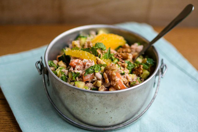 Tuna, carrot and courgette salad recipe