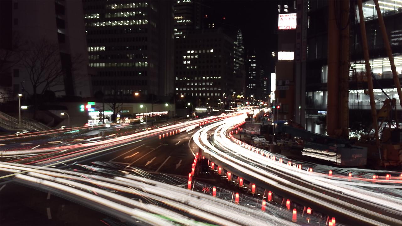 Slow Shutter Camで西新宿の街を撮影