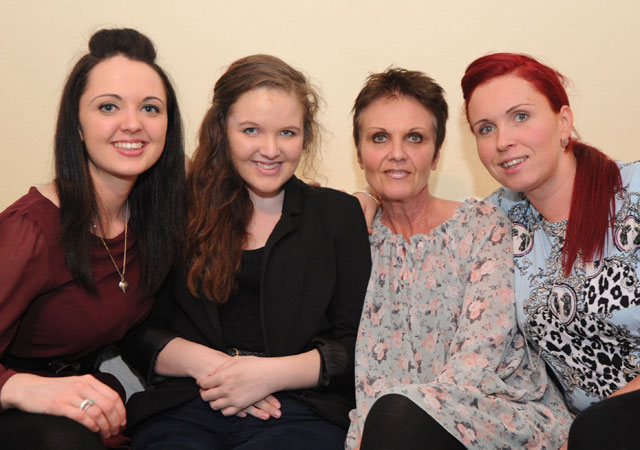 Seanie Nammock, second from left,with sisters Sinead and Sarah and mother Marian