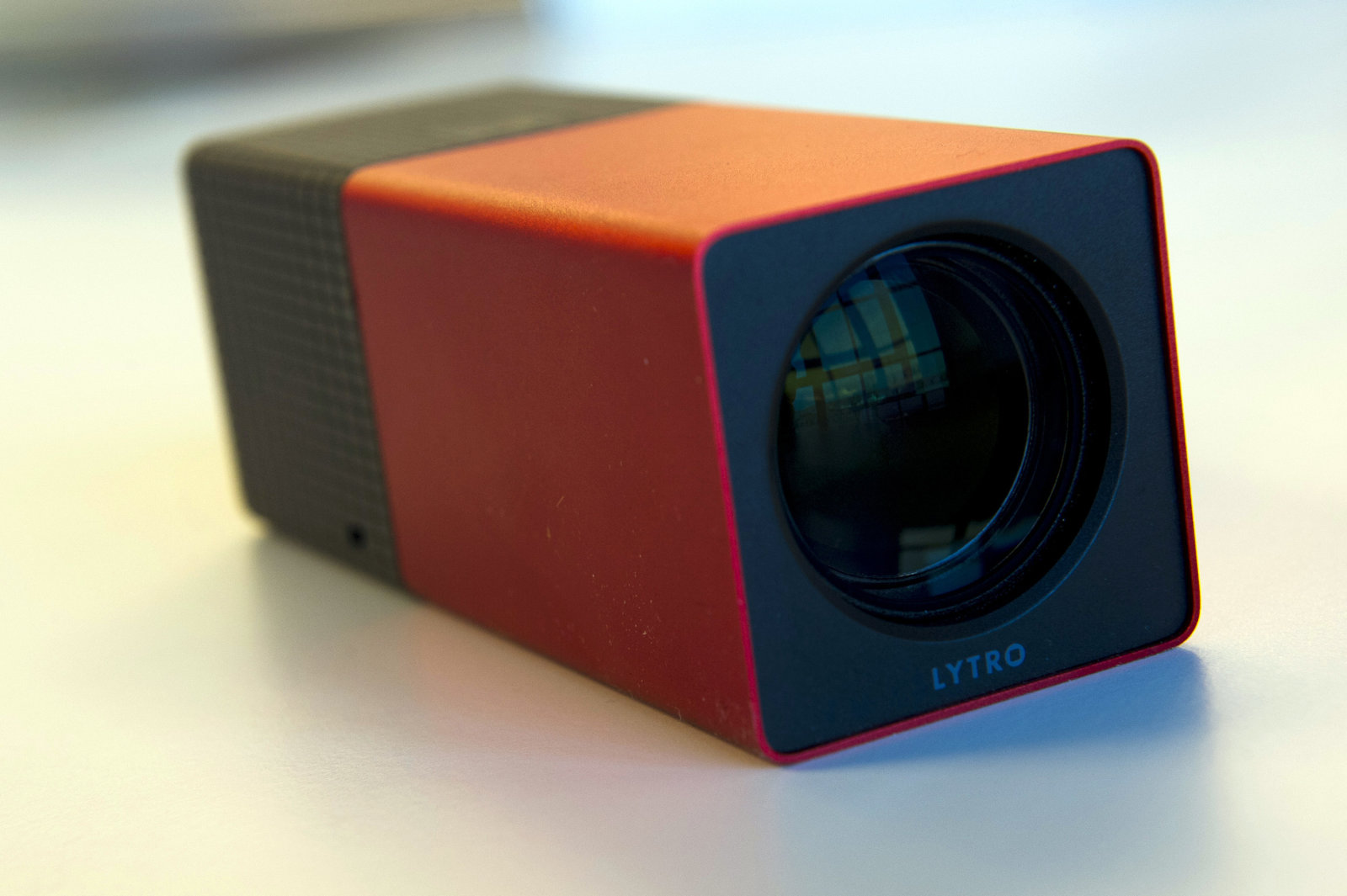 The Lytro camera is displayed for a photograph in San Francisco, California, U.S., on Friday, Feb. 17, 2012. Launched by a Mountain View, California, start-up to capitalize on research conducted at Stanford University, the Lytro introduces the concept of a living photo that can be adjusted on the fly by photographer and viewer alike. Photographer: David Paul Morris/Bloomberg via Getty Images