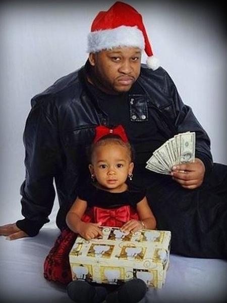 funny christmas cards, funny christmas photos, baller christmas