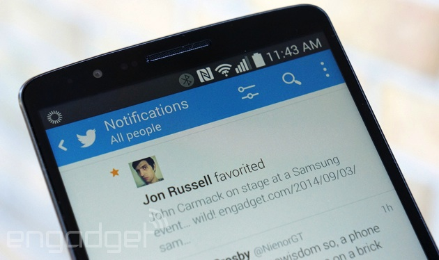 Favorite in Twitter for Android
